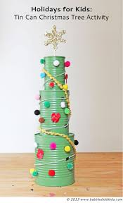 Christmas Tree Activities: Tin Can Christmas Trees are an easy holiday  activity for kids using