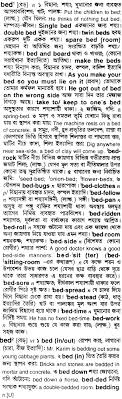 bed meaning in bengali bed english to