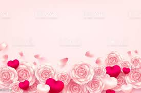 Valentine Hearts Background With Sweet Heart And Pink Rose For Valentines  Day Brochuresposter Or Bannervector Illustration Eps10 Stock Illustration -  Download Image Now - iStock