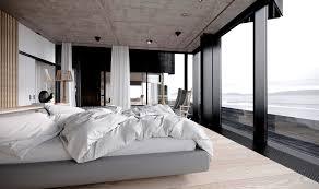 modern bedroom. modern bedroom beautiful water view