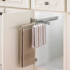 kitchen towel holder. Perfect Holder Cabinet PullOut Towel Bar  Chrome Image On Kitchen Holder L