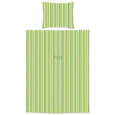 158862 junior duvet cover stripes lime green