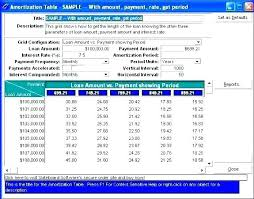 Simple Interest Loan Amortization Schedule Interest Excel Template