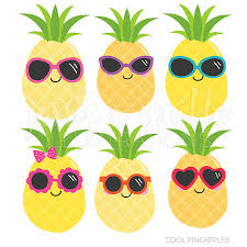 pineapple with sunglasses clipart. cool pineapples cute digital clipart, commercial use ok, pineapple graphics, summer clip art, sunglasses tropical clipart with etsy