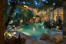 tropical outdoor lighting. tropical spaces design pictures remodel decor and ideas outdoor lighting