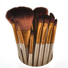 12pcs gold kabuki professional make up