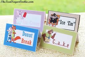 Diy Birthday Blog Make Your Own Diy Zootopia Food Label Cards And