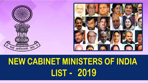 new cabinet ministers of india 2019