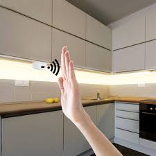 Under Kitchen Cabinet Lighting With Motion Sensor Us 7 32 39 Off Hand Sweep Smart Switch Led Cabinet Lights Hand Motion Sensor Led Strip 1m 2m 3m 4m 5m Kitchen Bedroom Decoration Night Lamp In Under