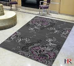 purple grey silver black abstract area rug modern contemporary fl and