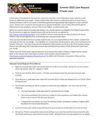Summer 2016 Private Loan Request Manualzz Com