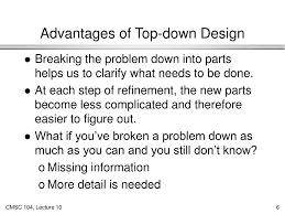 Top Down Design Advantages Ppt Algorithms Iv Top Down Design Powerpoint Presentation