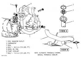 1997 pontiac grand am changing the thermostat engine cooling need to remove pipe from lower block see diagram
