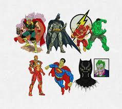 Free Batman Machine Embroidery Designs Super Heroes Embroidery Machine Designs Files Dst Pes Marvel