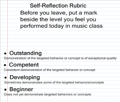 self reflection essay rubric sample reflections and rubrics