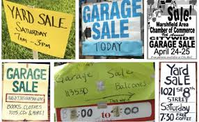 free garage sale signs neighborhood yard sales