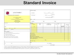 Standard Invoice Number One For The Customer Lg Service Center Lg