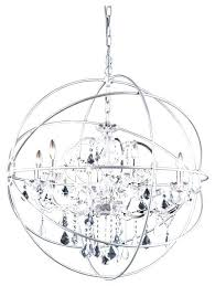 orb crystal chandelier nickel orb chandelier orb crystal chandelier 6 lights medium size with regard to