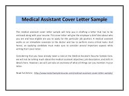 Cover Letter Examples For Medical Assistants Medical Assistant Cover