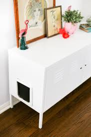 cat litter box covers furniture. Turn The Ikea PS Cabinet Into A Giant Kitty Litter Box So You Never Have To Cat Covers Furniture