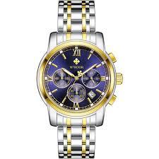 <b>WWOOR Men</b> Chronograph Business <b>Top Brand</b> Luxury Stainless ...