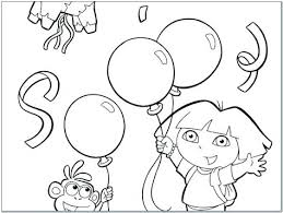 Dora Happy Birthday Coloring Pages Free Online Pokemon For Kids