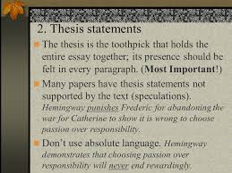 hemingway essay reminders strong thesis make any claim you want  12 2