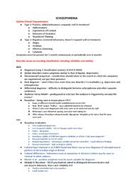 psychology unit schizophrenia essay plans document in a level preview of page 1 schizophrenia