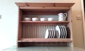 wall mounted plate rack traditional large wooden dish drying ikea shelf huge stainl