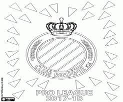 Club Brugge Kv Pro League 2017 2018 Coloring Page Printable Game