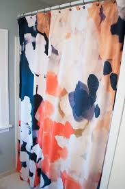 other than paint remember the neon colors i started with a fresh new shower curtain made the biggest impact in my bathroom renovation