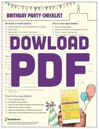 Event Planning Checklist Pdf Birthday Party Planning Checklist