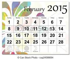 2015 Calendar Page Clipart