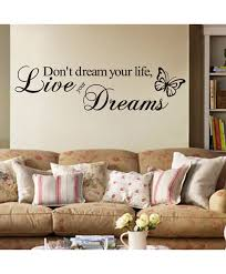 don t dream your life live your dreams wall stickers home decor bedroom home decoration
