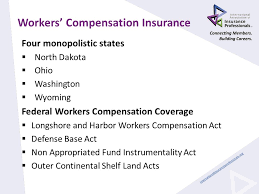 6 workers compensation insurance four monopolistic states