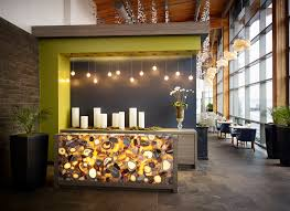 stunning caesarstone concetto grey agate is beautifully backlit at the reception desk at sarcoa