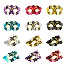 Solovey 12Pack Gold Shining Plated Party Mask <b>Wedding Props</b> ...