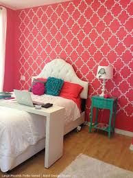Stencil Decorating Ideas In The Pink! Allover Lace And Floral Stencils.  Girl Bedroom WallsPink ...