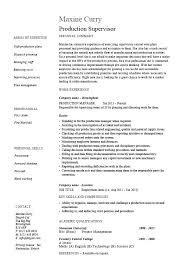 Supervisor Resume Sample Free Mechanical Maintenance Supervisor Resumes Sample Warehouse Resume