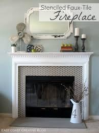 awe inspiring painting tile around fireplace captivating painting tile around fireplace with stenciled faux
