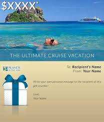 Cruise Gift Certificate Template Vacation Gift Certificate Template Free Indemo Co