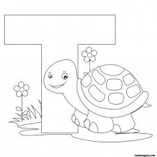 Small Picture Printable Animal Alphabet worksheets Letter T is for Turtle