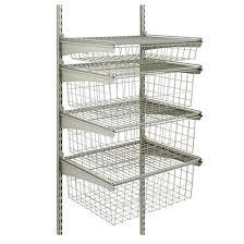 shelftrack 4 drawer wire shelf 19 x