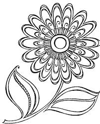 Flower Print Outs Print Out Coloring Pages Flowers Free Printable