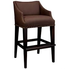 leather bar stools with backs. Bar Stools:Furniture Brown Leather Stool With White Stitching And Back On Black Wooden Stools Backs H