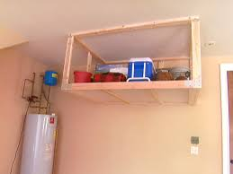 overhead garage storage shelf garage storage shelves diy with