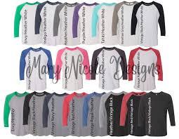Next Level Raglan Shirt Size Chart Every Shirt Color 6051digital File Shirt Color Chart Next
