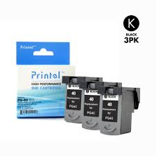 <b>Canon PG-40</b> (<b>3 Pack</b>) Inkjet Cartridge Replacement for Canon ...