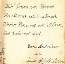 Poesiealbum Die Sprüche Die Botschaften Fürs Leben Lyrikheute
