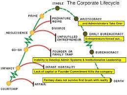 Organizational Life Cycle Chart Managing Corporate Life Cycle